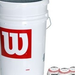 Image 0 of 3 Dozen A1030 Baseballs in a Bucket by Wilson