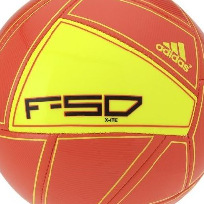 Image 0 of Adidas F50 X-Ite Soccer Ball High Energy Orange Electricit by adidas