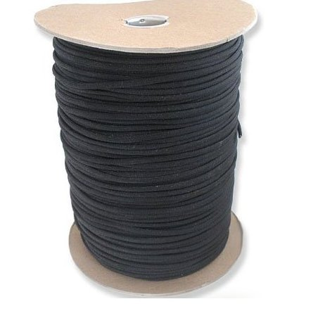 Image 0 of 1000 Foot Black Parachute Cord Paracor by The US Military Manufacturer