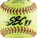 Image 0 of ASA SBC Leather11-Inch Yellow Fast Pitch Softball .47/375- by Dudley