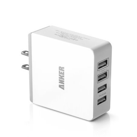 Image 0 of 36W 4-Port USB Wall Charger Travel Power Adapter for iPhon by Anker