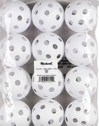 Image 0 of 9-Inch Pliable Plastic Baseball Dozen by Markwort