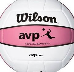 Image 0 of AVP Replica Game Balls Pink / White - Case of 6 Volleybal by Wilson