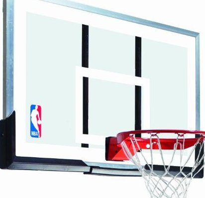 Image 0 of 54-Inch Backboard and Rim Combo with Acrylic Backboard by Spalding