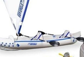 Image 0 of 370 Inflatable 12ft 6in Kayak Incl QuikSail Paddles Seat by Sea Eagle