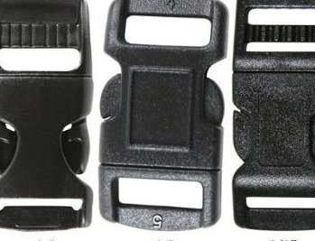 Image 0 of Black Plastic Side Release Paracord Bracelet Buckle  by Army Universe