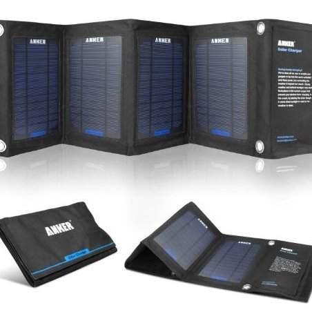 Image 0 of 14W Solar Panel Foldable Dual-port Solar Charger for 5V US by Anker