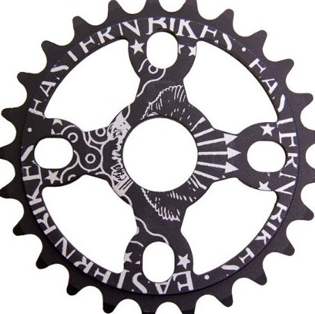 Image 0 of 25T Medusa Light Sprocket Matte Black 19mm by Eastern Bikes