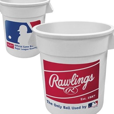 Image 0 of Big  Logo White Plastic Bucket by Rawlings