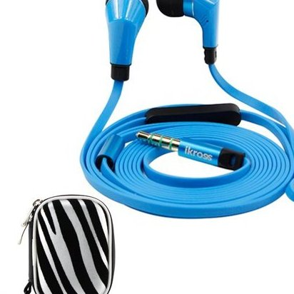 Image 0 of Blue / Black In-Ear 3.5mm Noise-Isolation Stereo Earbuds wi by iKross