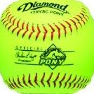 Image 0 of 12-Inch Optic Super Synthetic Cover Pony League Sof by Diamond Sports