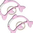 Image 0 of 2 Pink Dolphin Carabiner Camp Spring Snap Clip Hook Keych by willatram