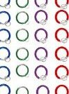 Image 0 of Aluminum Round Carabiners - Spring Snap Clip Hook - With Keyrin by IMS