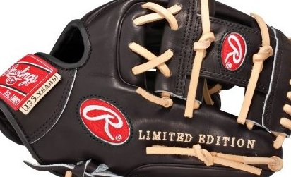 Image 0 of Black/Camel Baseball Glove 13 3/4-Inch Left Hand Throw by Rawlings