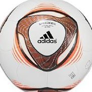 Image 0 of Adidas 2011 Glider Soccer Ball White/Warning Orange 3 by adidas