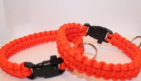 Image 0 of 550 Paracord Dog Collar with Whistle Buckle - Orange by SENC