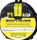 Image 0 of 4 Person Tube Rope with Spool Yellow/Black 60-Feet by Body Glove