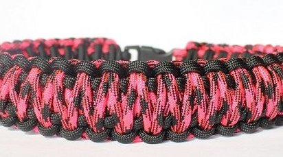 Image 0 of 550 King Cobra Paracord Dog Collar with Side Release Buckle - by SENC