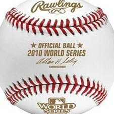 Image 0 of 2010 Official World Series Baseball in Cube by Rawlings