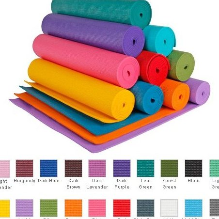 1/4 Extra Thick High Density Yoga Mat Phth by YogaAccessories TM