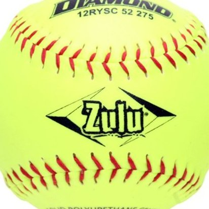Image 0 of ASA 12-Inch Slowpitch Synthetic Cover Softball 12- by Diamond Sports