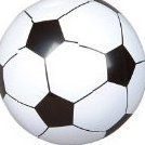 Image 0 of 12 Soccer Ball Beach Balls Inflatable Fun Toy 1 Dozen by rinc by Rinco