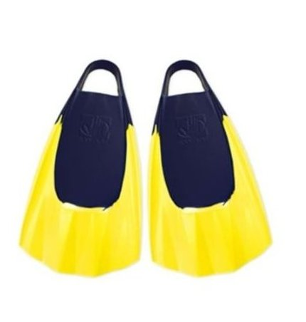 Image 0 of Bodyboarding Fins Pro Model Small Blue/Yellow by Body Glove