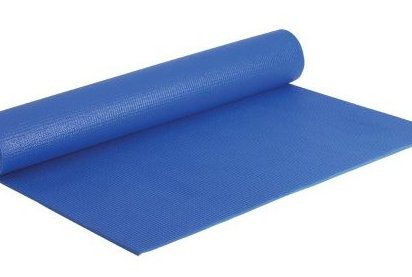 Image 0 of 68-Inch by 24-Inch Yoga Mat with DVD Blue by Fitness by Cathe