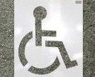 Image 0 of 70344 72quot; Handicap Logo LDPE Reuseable Stencil by CH Hanson