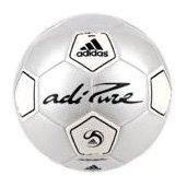 Image 0 of adiPURE Glider Soccer Ball Metallic White/Black/Metallic G by adidas