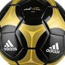 Image 0 of Adidas adiPURE Glider Soccer Ball Black/Matte Gold/Pure Yel by adidas