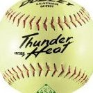 Image 0 of ASA Thunder Heat Slow Pitch Leather Ball Size 12 by Dudley