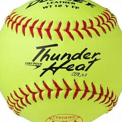 Image 0 of ASA Thunder Heat Fast Pitch Leather Soft Ball - Dozen by Dudley