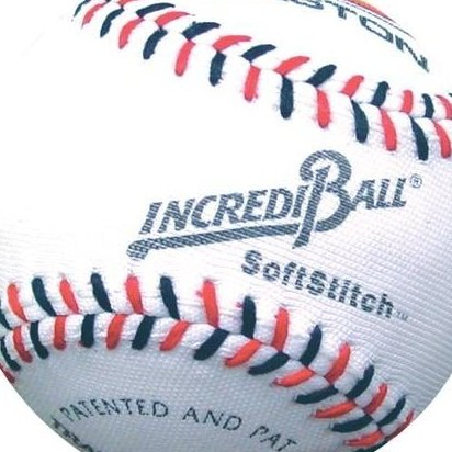Image 0 of 9quot; SoftStitch IncrediBall-White EA by Easton