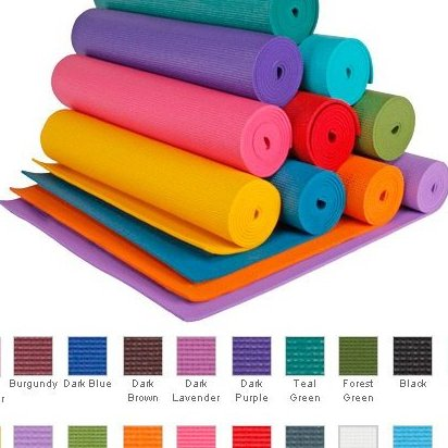 Image 0 of 1/4 Extra Thick High Density Yoga Mat Phth by YogaAccessories TM