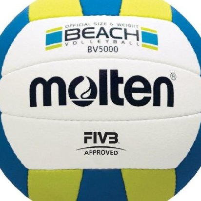Image 0 of Beach Volleyball Blue/Yellow/White Official by Molten