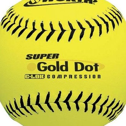 Image 0 of 12-Inch Slowpitch Ys44rla3 Leather ASA Ball Pack of 12 by Worth