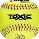 Image 0 of 12-Inch Slowpitch T12aly Leather ASA Ball Pack of 12 by Worth
