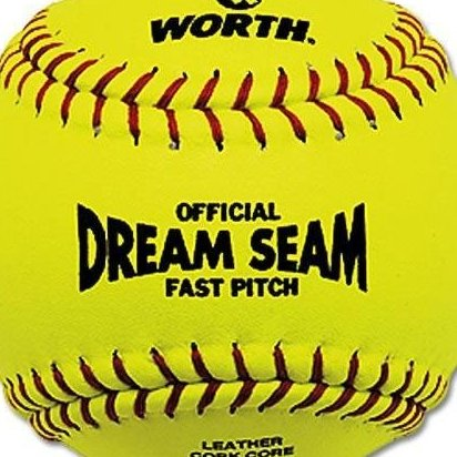 Image 0 of ASA/NFHS 12 in. Dream Seam Fastpitch Softballs - 1 Dozen by Worth