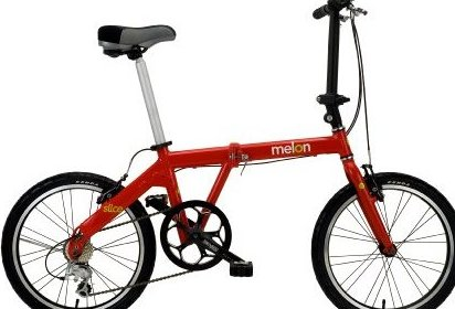 Image 0 of 5005239 Slice 20quot; Folding Bicycle Red by Melon Bicycles