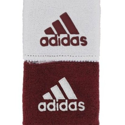 Image 0 of Adidas Interval Reversible Wristband Cardinal/White / White by adidas