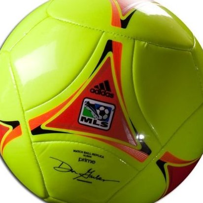 Image 0 of Adidas 2012 MLS Glider Soccer Ball Electricity Yellow High by adidas