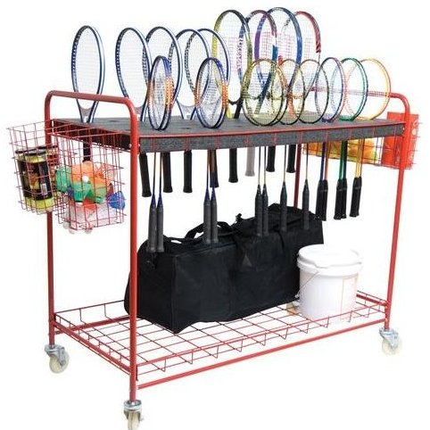 Image 0 of Racquet Storage Cart by SSG