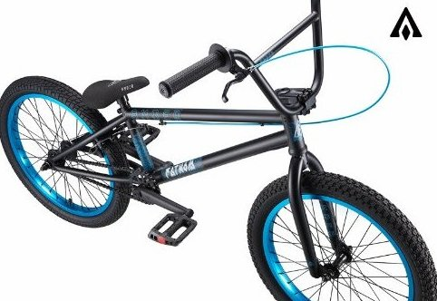 Image 0 of Fathom Matte Black w/ Hot Blue BMX Bike by Amber