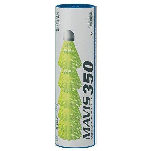 Image 0 of Mavis 350 Plastic Shuttlecocks Pkg of 4 tubes 24 pcs - Ye by Yonex
