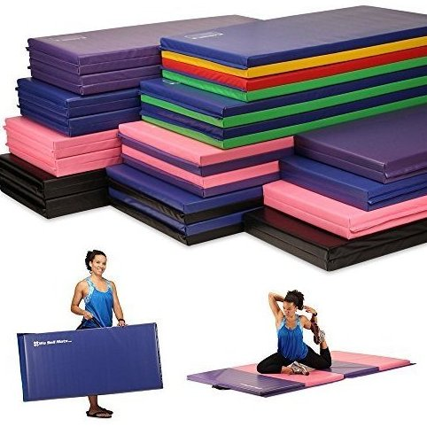 Image 0 of Folding Exercise Gym Mats 4 x 8 Purple/Pink by We Sell Mats