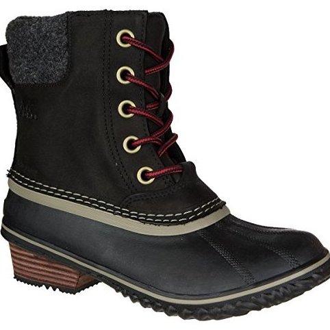 Image 0 of Sorel Slimpack II Lace Boot - Womens Black / Kettle 12 by Sorel
