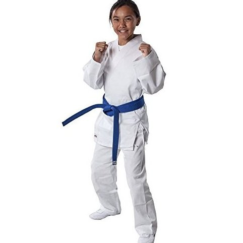 7.5 Oz White Student Karate Uniform White Size 5 59 by Tiger Claw