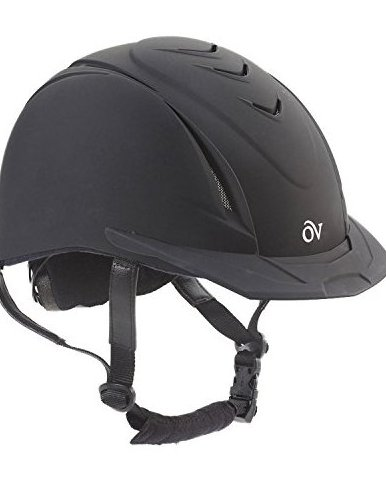 Image 0 of Girls Schooler Deluxe Riding Helmet Black M/L US by Ovation