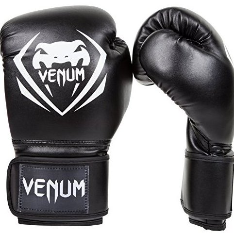 Image 0 of Contender Boxing Gloves Black 16-Ounce by Venum